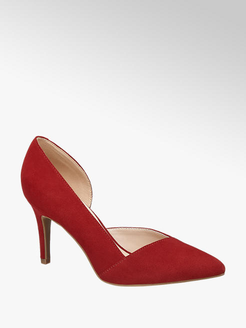 5th Avenue Red Leather High Heeled Court Shoes