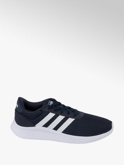 adidas Mens Adidas Lite Racer Navy Lace-up Trainers