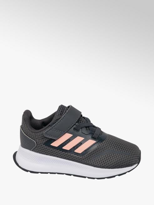 adidas Toddler Girls Adidas Runfalcon Grey/ Pink Trainers