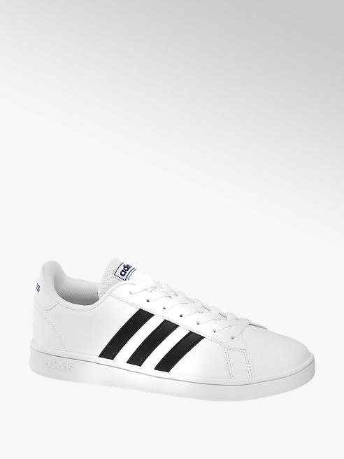 adidas Teen Girls Adidas Grand Court White Lace-up Trainers