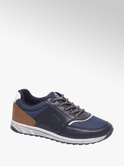 Agaxy Blauwe sneaker denim
