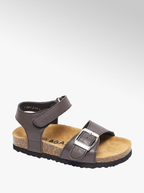 Agaxy Bruine sandaal klittenband
