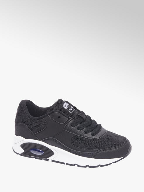 Agaxy Zwarte sneaker kant