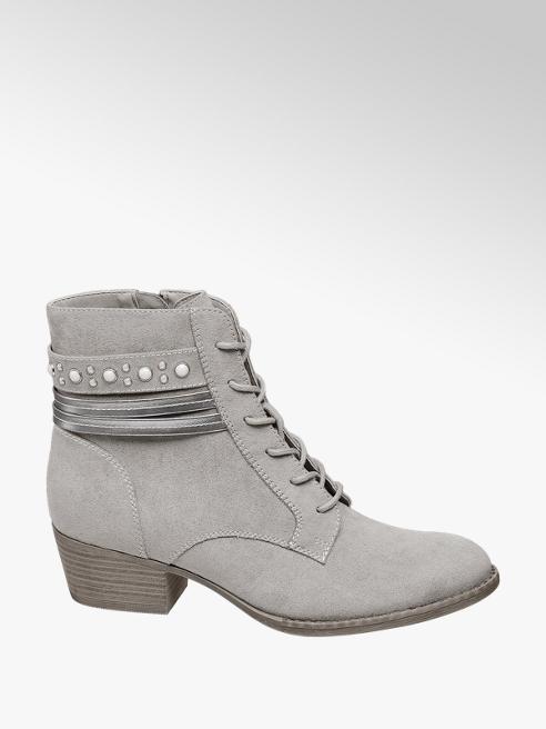 Graceland Anfibio stringato grigio chiaro