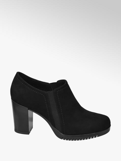 Graceland Ankle boot nero con tacco