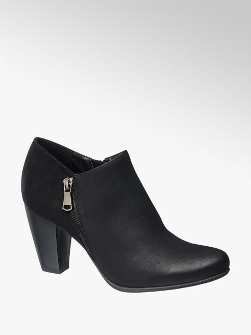 Graceland Ankle boot nero con zip laterale