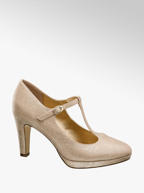 Graceland Aranyszínű alkalmi körömcipő
