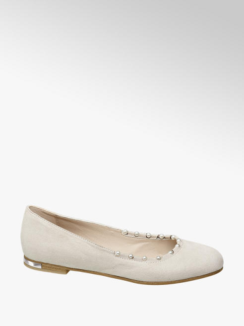 Graceland Ballerina beige con perline