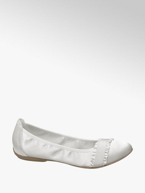 Graceland Ballerina bianca in satin