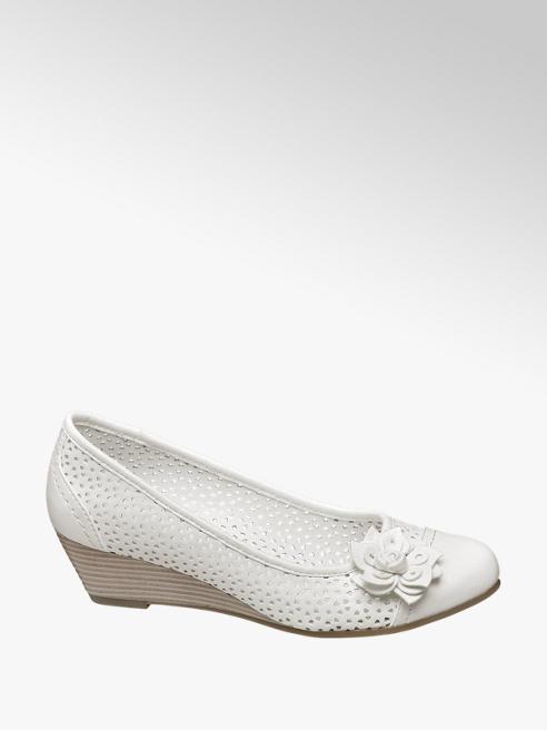 Graceland Ballerina con zeppa bianca