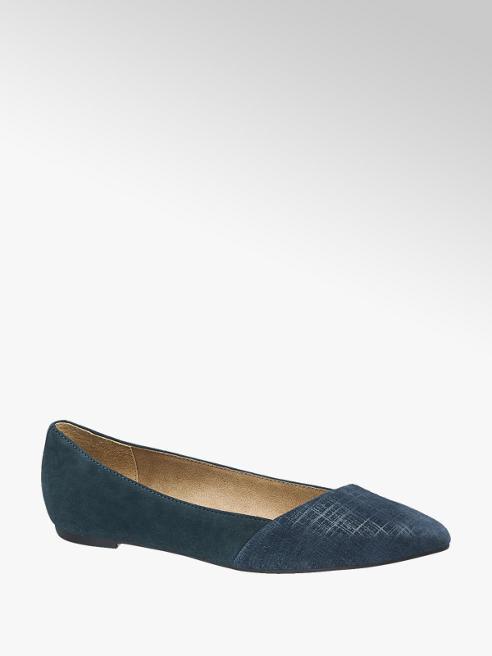 5th Avenue Ballerina in pelle blu