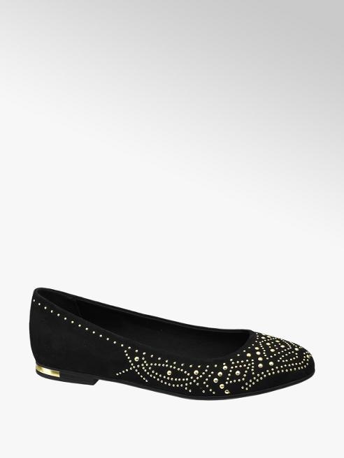 Graceland Ballerina nera con perline