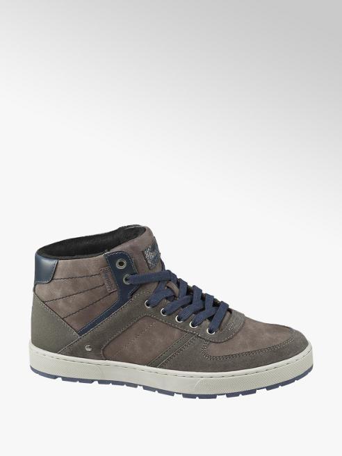 Bench Grijze halfhoge sneaker vetersluiting