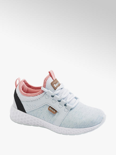 Junior Girls Blue Lightweight Casual Lace Up Trainers