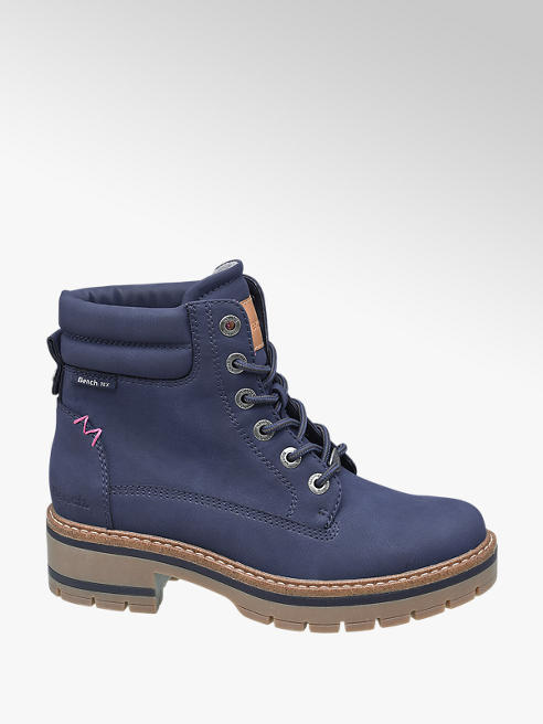 Bench Navy Chunky Lace-up Ankle Boots
