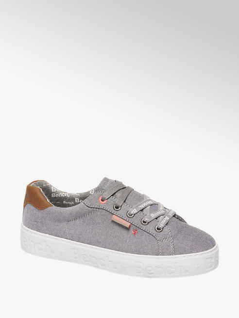Bench Ladies Bench Grey Lace Up Trainers