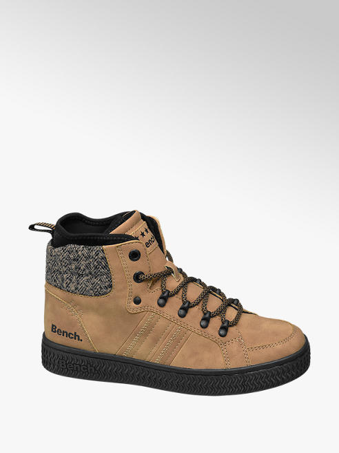 Bench Tan Lace-up High Top Trainers
