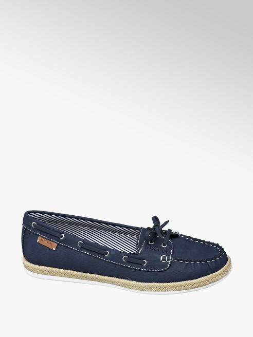 Bench Ladies Bench Navy Slip On Espadrille Loafer