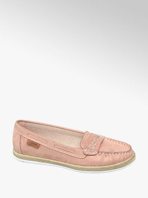 Bench Ladies Pink Bench Slip On Espadrille Loafers