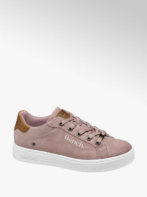 Bench Ladies Pink Bench Lace Up Trainers