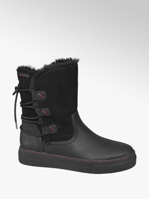 Bench Black Warm Lined Ankle Boots