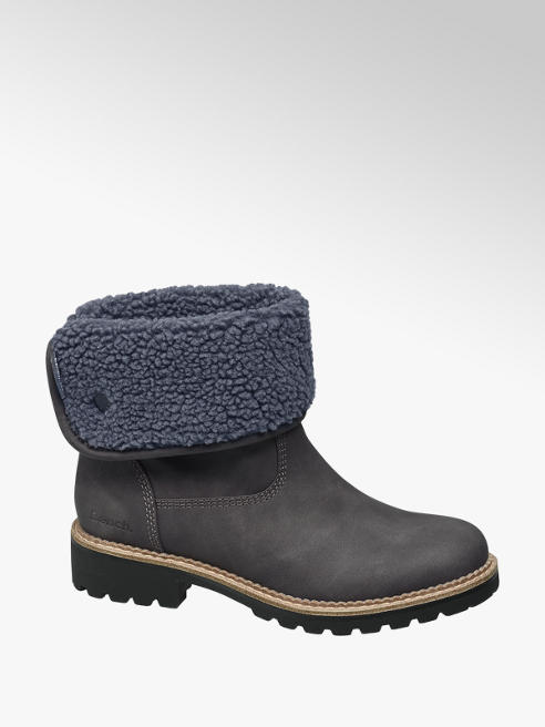 Bench Grey Warm Lined Ankle Boots