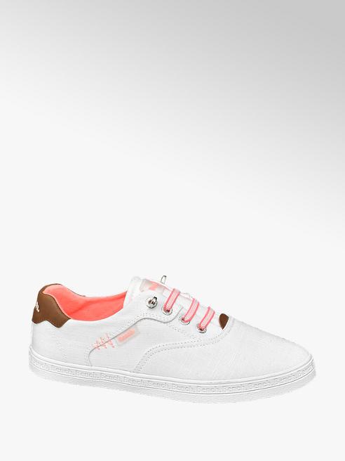 Bench Leinen Slip On Sneaker in Weiß