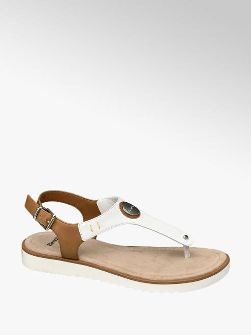 Bench White Toe Post Footbed Sandals