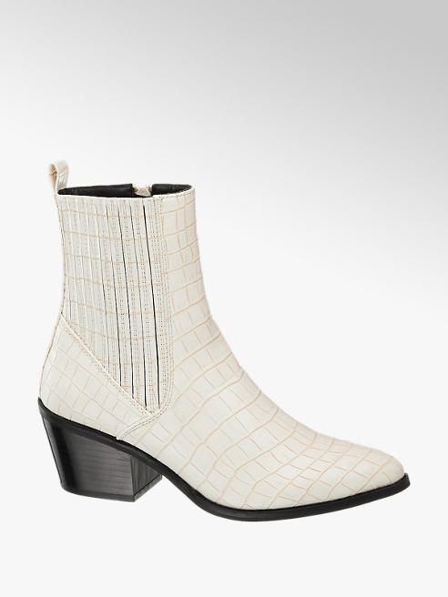 Vero Moda Biela Chelsea obuv so zvieracím vzorom Vero Moda