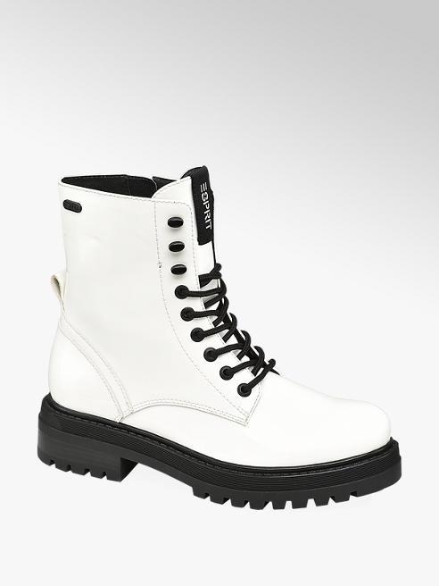 Esprit Biela šnurovacia obuv so zipsom Esprit