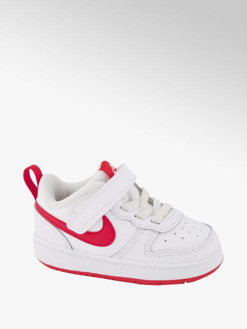 NIKE Biele detské tenisky na suchý zips Nike Court Borough 2