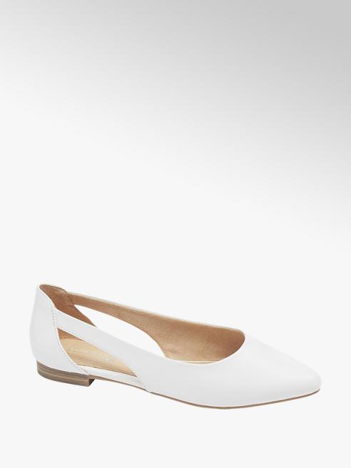 5th Avenue Biele kožené baleríny 5th Avenue Soft