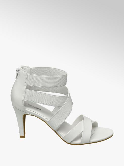 Graceland Biele sandále na podpätku Graceland