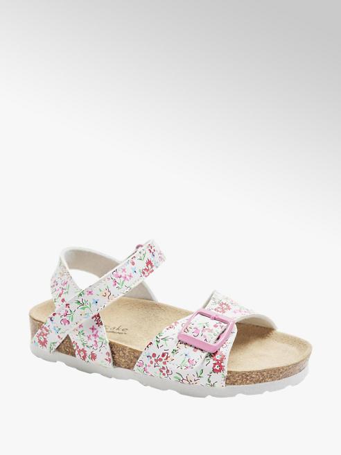 Cupcake Couture Biele sandáliky Cupcake Couture s kvetinovým vzorom