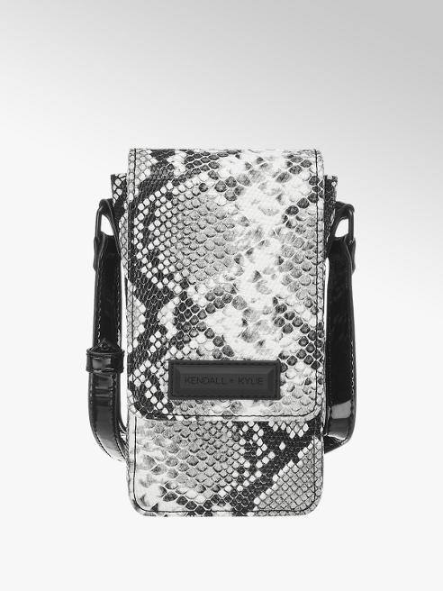 Kendall + Kylie Bielo-sivá taška cez rameno so zvieracím vzorom Kendall + Kylie