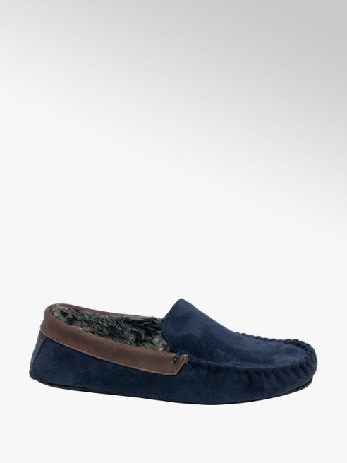 Björndal Mens Faux Fur lined Moccasin Slippers