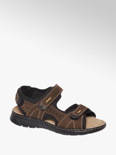 Björndal Bruine sandaal leren voetbed