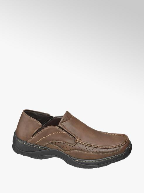 Björndal Mens Björndal Brown Slip-on Comfort Shoes