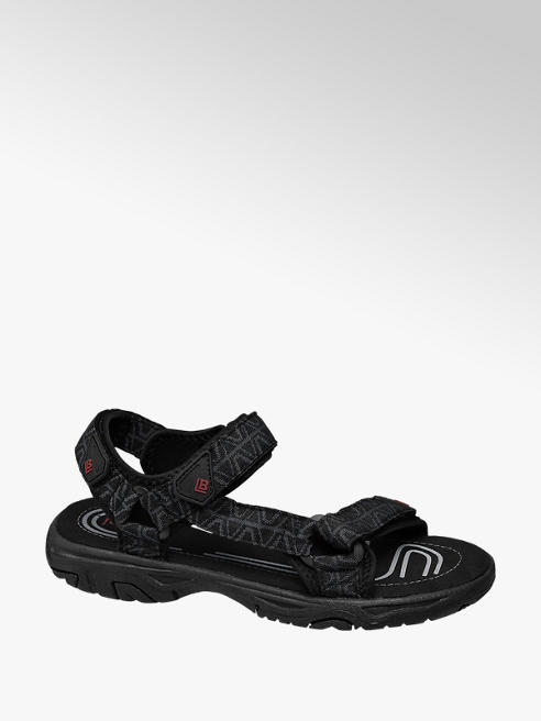 Björndal Zwarte sandaal klittenband