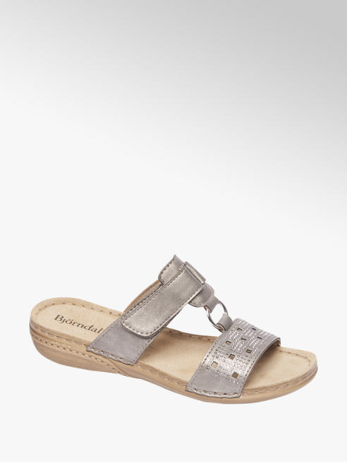 Björndal Grijze sandaal leren voetbed