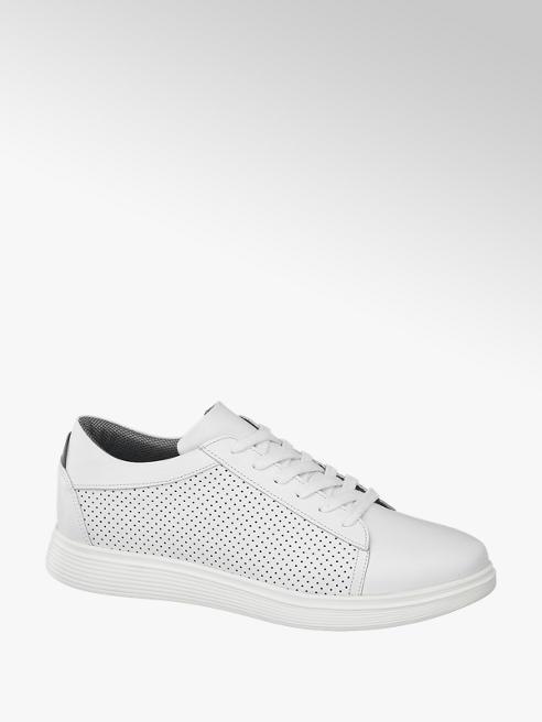 AM SHOE Bílé kožené tenisky Am Shoe