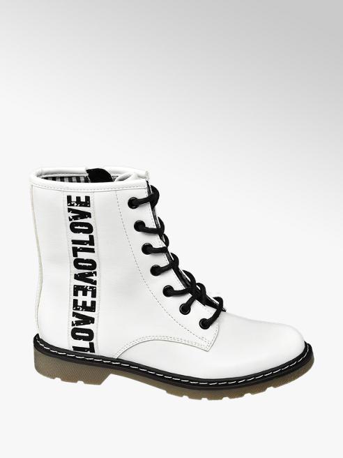 Graceland Bílá kotníková obuv Graceland se zipem