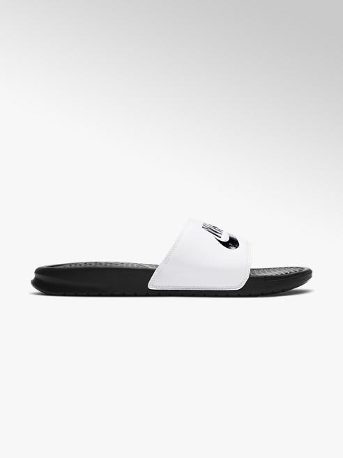 NIKE Bílé pantofle Nike Benassi