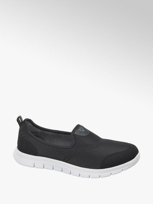Venice Ladies Black Slip-On Casual Shoes