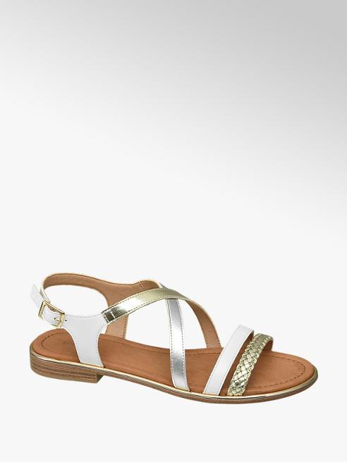 Graceland Bílo-zlaté sandály Graceland