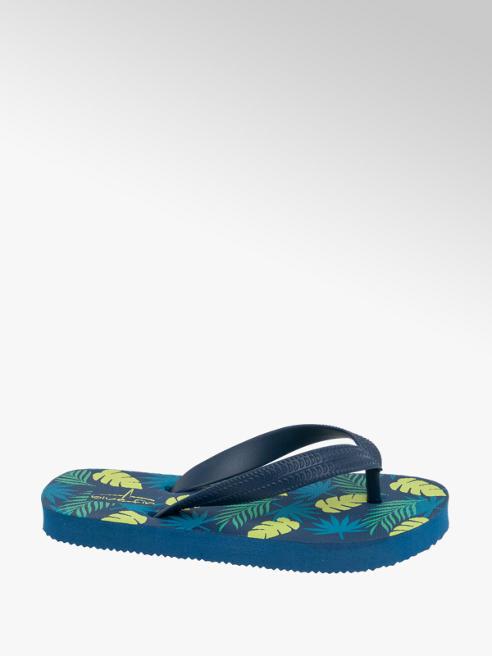 Blue Fin Junior Boy Palm Print Toe-Post Flip Flops