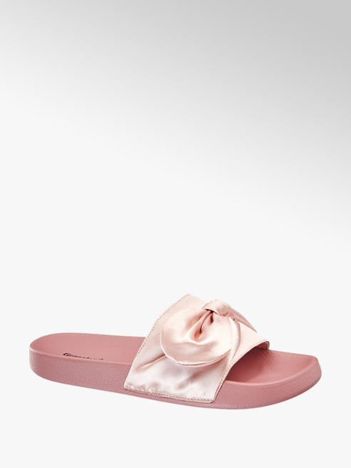 Blue Fin Ladies Satin Tie Sliders