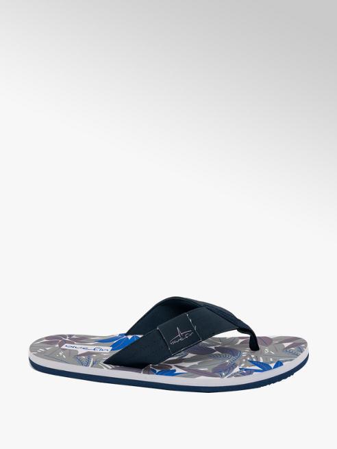 Blue Fin Mens Palm Leaf Print Flip Flops