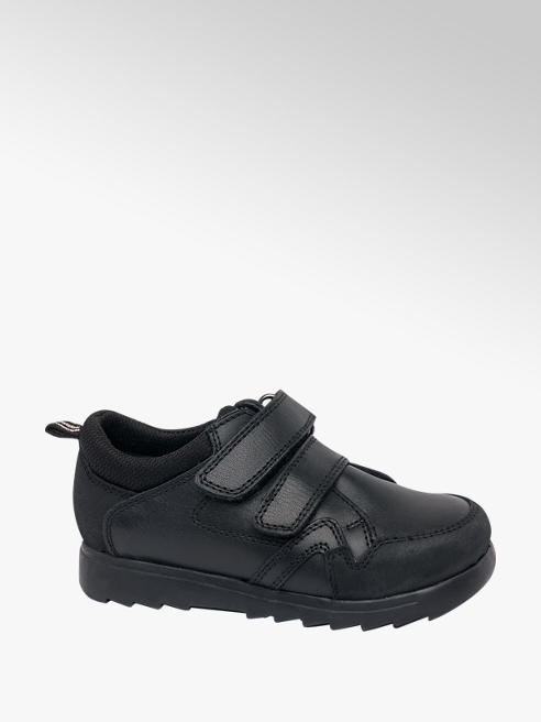 Bobbi-Shoes Toddler Boy Black Twin Strap School Shoes