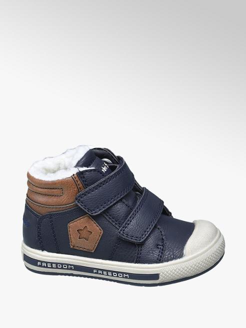 Bobbi-Shoes Blauwe bootie klittenbandsluiting